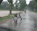 Following rain, the mercury plummeted by over 2 degrees celsius