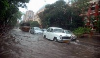 Trees were also uprooted in several areas giving commuters, including people returning from offices, a tough time