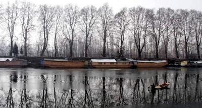 The minimum temperature in Srinagar was minus 0.9 degree