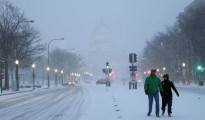 The government offices and schools will be closed on Monday in Washington DC