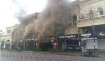 Six fire tenders have been rushed to the spot to douse the fire