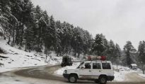 Gulmarg recorded 1.1 as the night's lowest temperature while it was 1.4 in Pahalgam
