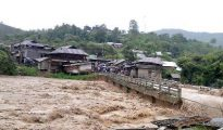 The condition of the Imphal-Myanmar trans-Asian highway has worsened as a result of the downpours