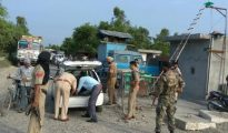 The police along with army and BSF has been conducting intensive checking operation